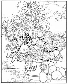 coloring pages of flowers printable