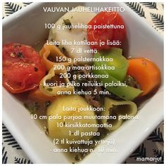 Vauvan jauhelihakeitto E Learning, Kids And Parenting, Baby Food Recipes, Finger Foods, Menu, Baby Foods, Fruit, Babies, Tutorials