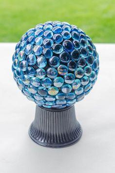 Make a Glass Gem Garden Gazing Ball for Just $10