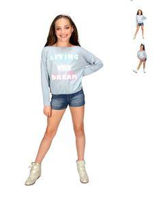 """Maddie Ziegler designed and modeled her """"Maddie & Mackenzie Collection"""" [2014]"""