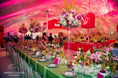 pink and green #wedding #reception