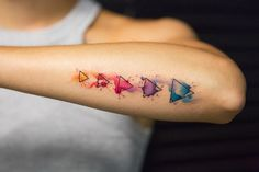 Watercolor Tattoo bunt-geometrisch-wasserfarben
