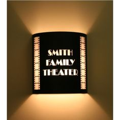"Custom Theater Sconce ...fun  (could write ""enjoy the show"")"