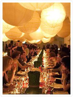 elegant lantern wedding