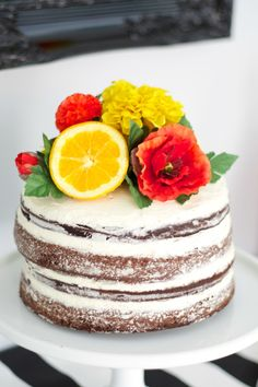 "Citrus Baby Shower ""Naked Cake"" - Project Nursery"