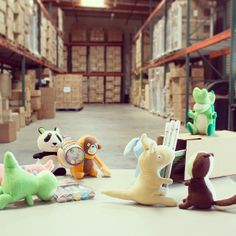 The warehouse was swamped due to the start of the school year; so the #Smanimals volunteered to help with a few shipments.