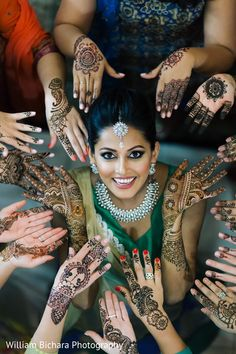 Indian Bride at Mehndi Night http://www.maharaniweddings.com/gallery/photo/82832
