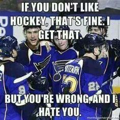 Hockey isn't for everyone, but don't think that I won't get offended when you say hockey sucks to my face.