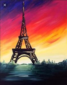 Another painting I painted of the Eiffel Tower.