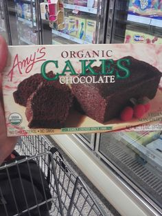 I found this at the grocery store. Best Organic chocolate cake! No additives, no garbage! Delicious! Amy's Organic Chocolate Cakes