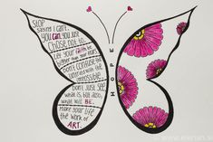 365 day project Butterfly ♥ DAY 44 ♥ Drawing time, inspired by Zentangle