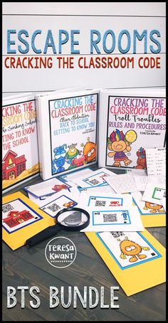 Escape rooms are the latest new craze! These breakout games are sure to capture the imagination of your elementary students. These Cracking the Classroom code escape games are back to school themed. There are three games included. One getting to know you game, one rules and procedures game, and one getting to know the school game. These are great for third grade, fourth grade, fifth grade, or sixth grade classrooms. Try one today!
