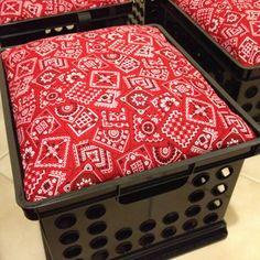 Milk crate seating