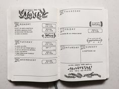 healthdiet002: chic-studies: My weekly spread for my bullet journal! It's the…