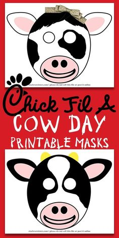 Get ready for Chick Fil A's Cow Appreciation Day with our free printables! We've got boy & girl Chick Fil A Cow Mask, paper plate mask printable, and more! We've got you covered for Cow Appreciation Day Cow Birthday, Birthday Crafts, Birthday Ideas, Birthday Parties, Diy Mask, Diy Face Mask, Crafts For Boys, Diy For Kids, Printable Cow Mask
