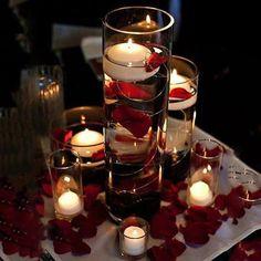 Diy wedding centerpieces blush floating candles new Ideas - boda Wedding Vase Centerpieces, Floating Candle Centerpieces, Wedding Table Flowers, Wedding Table Decorations, Centerpiece Ideas, Quinceanera Centerpieces, Pool Decorations, Diy Candles, Red And White Wedding Decorations