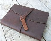 Hand stitched refillable leather journal