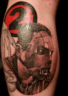 Tim tattoos the lead singer of Slipknot in the memory of his lost band mate