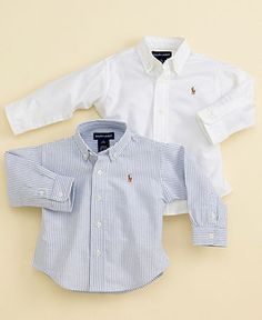 Polo Ralph Lauren Baby Boys Oxford Shirt - Kids Baby Boy months) - Macy& - mini me - Cute Teen Outfits, Toddler Boy Outfits, Kids Outfits, Baby Polo, Baby Baby, Alex Evans, Hot Topic Clothes, Polo Ralph Lauren, Newborn Outfits