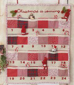 Red patchwork advent