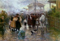 The Farewell - circa 1910 | Nikolai Pimonenko #Ukrainian, 1862-1912