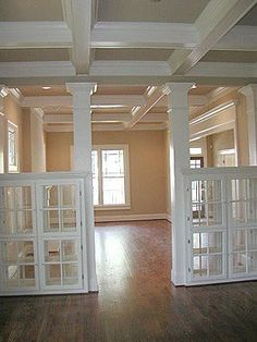 Window framed bookcases