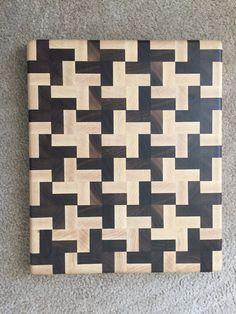 Handmade Butcher Block Cross Design End Grain by Legalwoodworks End Grain Cutting Board, Diy Cutting Board, Wood Cutting Boards, Small Projects Ideas, Diy Wood Projects, Wood Crafts, Diy Wall Art, Wood Wall Art, Woodworking Plans