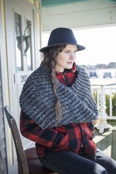 Oversized #crochet cowl pattern for sale via LoveCrochet