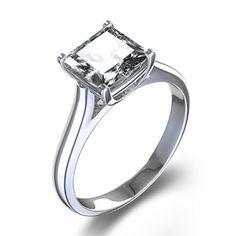 Trellis+Set+Princess-Cut+Diamond+Engagement+Ring+in+14k+White+Gold