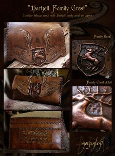 Hartzell Family crest - tobacco pouch by *morgenland on deviantART