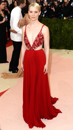 Mia Wasikowska from Met Gala 2016: Red Carpet Arrivals | E! Online