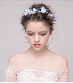 0 (700×795) Wedding Hair And Makeup, Wedding Hair Accessories, Bridal Makeup, Hair Makeup, Dance Hairstyles, Bride Hairstyles, Wedding Headband, Bridal Hair, Bridal Shower Rustic