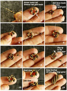 How to make a beaded spiral bracelet - How to make a beaded spiral bracelet – Crystals and Clay Jewelry DIY You are in the right place ab - Crochet Beaded Bracelets, Beaded Bracelets Tutorial, Beaded Earrings Patterns, Woven Bracelets, Bead Crochet, Stretch Bracelets, Silver Bracelets, Jewelry Bracelets, Bead Jewellery