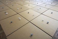 49 prepared dc-motors, cotton balls, cardboard boxes 70x70x70cm. Credits Paolo Terzi