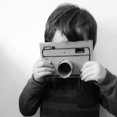 DIY Cardboard Camera for Little Photographers: somethingmadedifferent.com