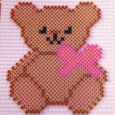 Teddy bear hama perler beads by hamabeadpatterns123
