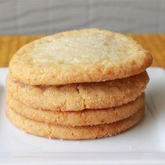 Chewy Sugar Cookies Recipe Desserts with all-purpose flour, baking soda, salt, margarine, white sugar, eggs, vanilla extract, white sugar
