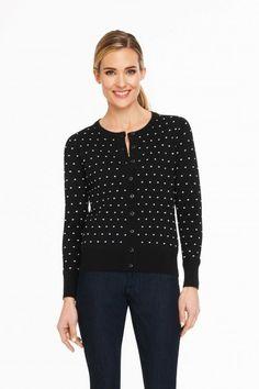 Foxcroft Textured Dot Cardigan | Foxcroft Clothing