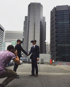 An awesome Virtual Reality pic! Future businessman in Japan. 未来世紀日本  #future #osaka #japan #businessman #salaryman #shooting #photography #virtualreality #Headset #未来世紀日本 #未来 #フューチャー #ヘッドセット #ヴァーチャルリアリティー  #大阪 #撮影 #モデル #model by japanizzle check us out: http://bit.ly/1KyLetq