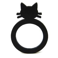 Katzen Ring Symbols, Art, Cat Necklace, Cat Jewelry, Ear Piercings, Cat Ring, Gifts For Cat Lovers, Black Braces, Animal Themes