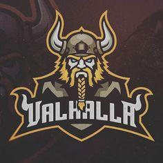 (Mascot Logo) Classic, yet modern approach with a straightforward illustration. Fantasy Football Logos, Fantasy Football Funny, Typography Logo, Logo Branding, Team Logo, Vikings, Viking Logo, Esports Logo, E Sport