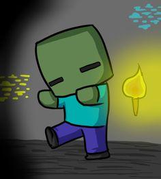Minecraft Drawings | Minecraft drawing chibi Zombie by Jojoful7 on deviantART