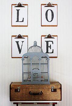 clipboard wall, clipboard display, clipboard art, wall art, wall decor, artwork, art, DIY, easy decorating ideas