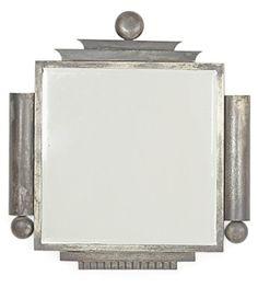 An Austrian Art Deco Iron Mirror, Circa 1930