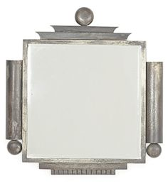 Austrian Art Deco Iron Mirror, 1930