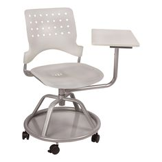 Mobile Tablet Arm Chair - Translucent White