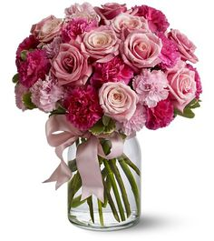 Roses with Carnations....want to add Jasmine too.
