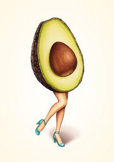 «Fruit Stand - Avocado Girl» de Kelly  Gilleran