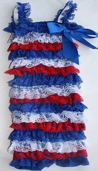 Petti Romper 4th of July clothes Fourth of July by JadeliseDesigns, $12.99  Cute idea! Would need flashy headband and flip flops!  (bracelet too)