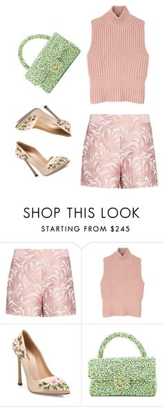 """""""Untitled #25"""" by perianuramona on Polyvore featuring Exclusive for Intermix, Diesel Black Gold, Giambattista Valli and Chanel"""